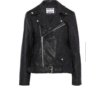 WALTER BAKER Leather Moto jacket Leather Studded
